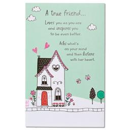 American Greetings A True Great Friend Birthday Greeting Card with Glitter and Foil