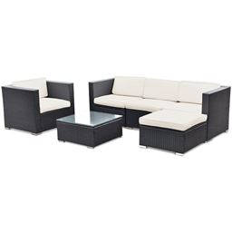 6 pcs Patio Rattan Furniture Set