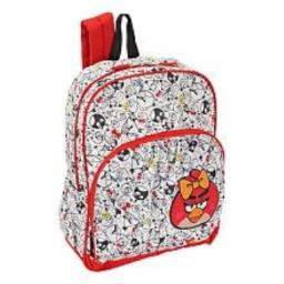 Accessory Innovations Angry Birds Female Red Bird 16 inch Backpack - White/Red
