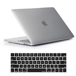 ProCase MacBook Pro 15 Case 2019 2018 2017 2016 Release A1990/A1707, Hard Case Shell Cover and Keyboard Cover for MacBook Pro 15 (2019/2018/2017/2016) with Touch Bar & Touch ID -Crystal