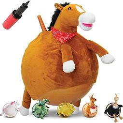 WALIKI Horse Hopper Ball for Kids   Hippity Hop   Jumping Hopping Ball   Sit & Bounce (Small: Ages 3-5, Horse)