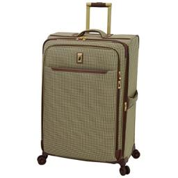 """London Fog Cambridge II 29"""" Expandable Spinner, Olive Houndstooth"""
