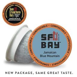San Francisco Bay OneCup Jamaican Blue Mountain Blend, Single Serve Coffee K-Cup Pods (10 Count)