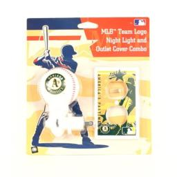 Oakland Athletics MLB Team Logo Night Light and outlet Cover Combo