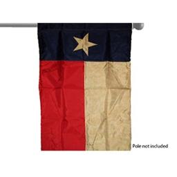 "EMBROIDERED TEXAS TEA STAINED VINTAGE GARDEN BANNER/FLAG 28""X40"" SLEEVED POLY"