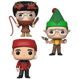 Funko TV: Pop! The Office Holiday Collectors Set - Dwight As Elf, Michael As Classy Santa, Dwight As Belsnickel