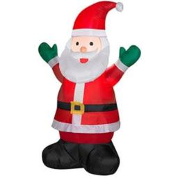 Inflatable 4' Santa Claus Holiday Christmas Decoration