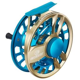 Cheeky Fishing, Limitless 425 Fly Fishing Reel, 7-10lb Line Weight, Blue/Gold