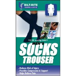 Bilt-Rite Mastex Health 10-72000-XL Men's Trouser Socks, Navy, X-Large