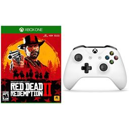 Xbox One Red Dead Redemption 2 and Wireless Controller with Bluetooth - White