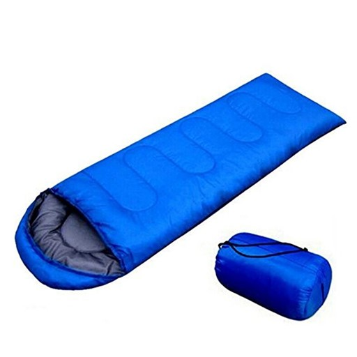 Trail Zero-Degree Lightweight Foldable Insulated Sleeping Bag for Camping/Hiking (Ranger Blue)