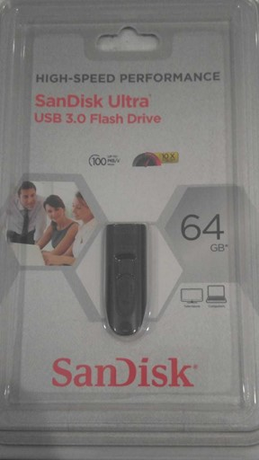 FACTORY SEALED SANDISK ULTRA 64GB USB 3.0 FLASH DRIVE 100MB/S SDCZ-064G!
