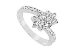 Cubic Zirconia Ring 14K White Gold 0.50 CT Cubic Zirconia