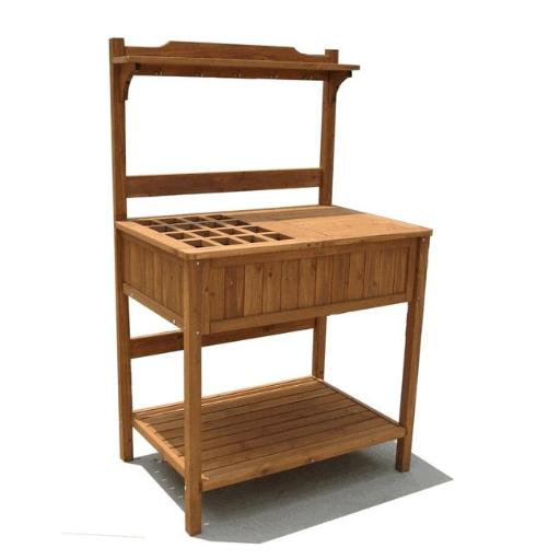 Merry Products MPG-PB02 Wood Potting Bench with Recessed Storage