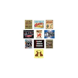 Sign of the times 89743 metal novelty signs 10-piece assortments