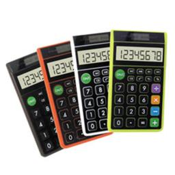 Teledex DH-62 Hybrid Wallet Calculator  Assorted Colors