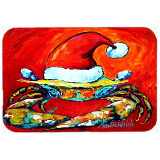 Crab in Santa Hat Santa Claws Glass Cutting Board Large Size JEAGVOT7CIPNGNEB