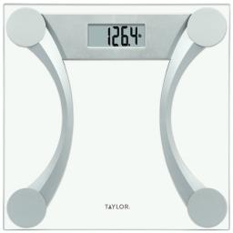Taylor(r) precision products 76024192 clear glass digital scale