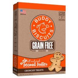Buddy Biscuits 28150 Buddy Biscuits Grain Free Oven Baked Crunchy Dog Treats Peanut Butter 14 Ounces