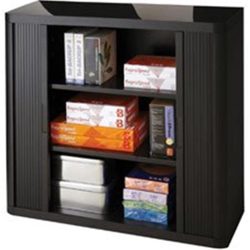 Paperflow Usa PPR366014192357 Easyoffice 80 in. Storage Cabinet - Black
