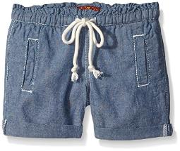 7 For All Mankind Little Girls' Athleisure Styled Pull on Short, Chambray, 5