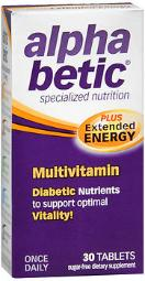 Alpha Betic Multi-vitamin Tablets- 30 Ct, Pack Of 4
