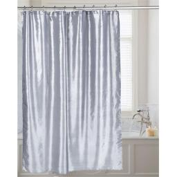 Carnation Home Fashions FSC15-FS-65 72 x 72 in. Shimmer Faux Silk Shower Curtain, Pewter