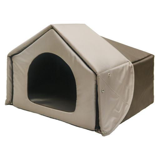 Richell 94701 Brown Richell Convertible Pet Bed House Brown 26.2 X 19.7 X 18.1
