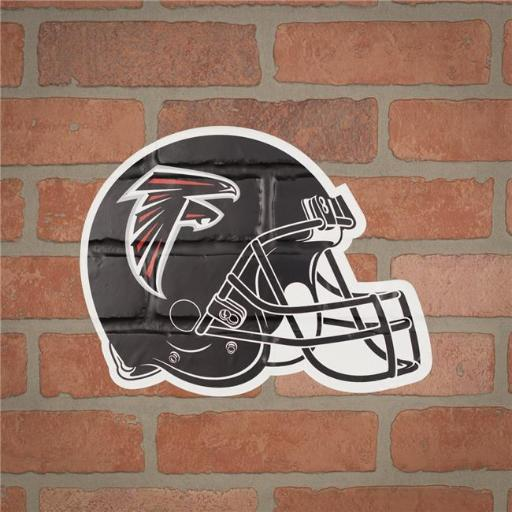 Applied Icon NFOH0201 NFL Atlanta Falcons Outdoor Small Helmet Mark Graphic Decal