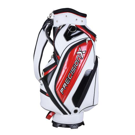 Men's Waterproof Golf Club Bag w/ 9 Pockets 5-way Mesh Top For Male Adult Golf Accessory Sport White
