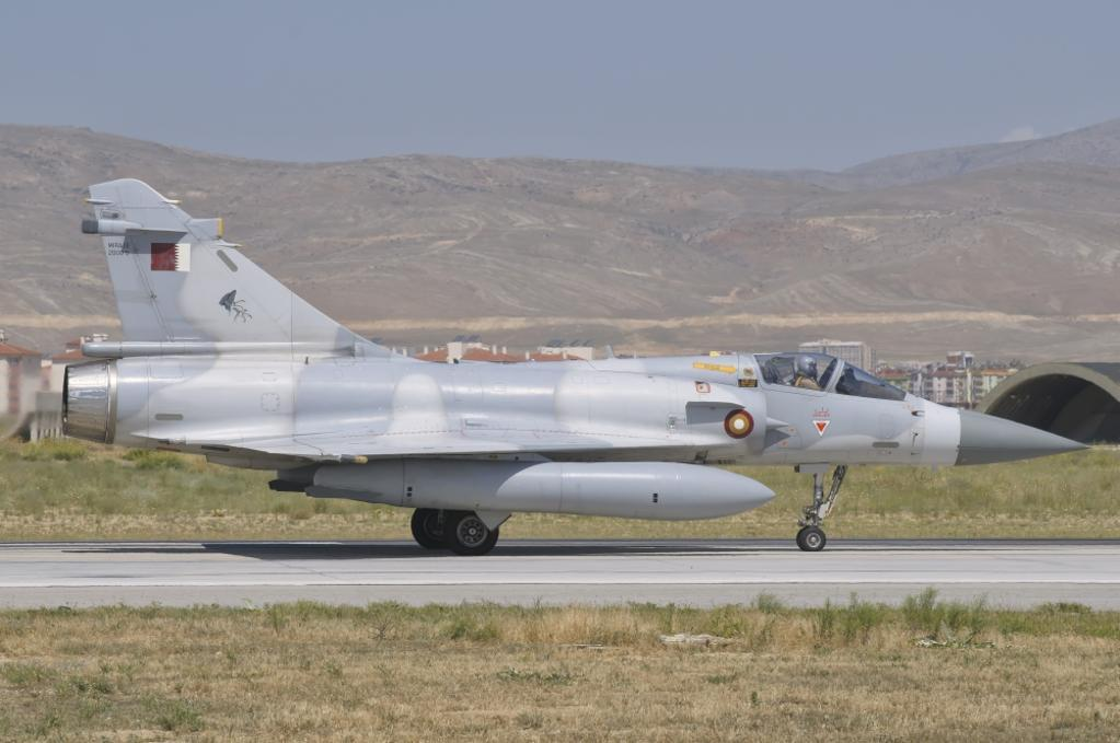 A Qatar Emiri Air Force Mirage 2000 during Exercise Anatolian Eagle at Konya Air Base, Turkey Poster Print