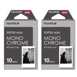 Fujifilm Instax Monochrome Film Pack Instant Print Mini Cameras 2 Pack 20 Sheets