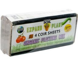 Expand & Plant Organic Soil Sheets, pack of 4 (4/c