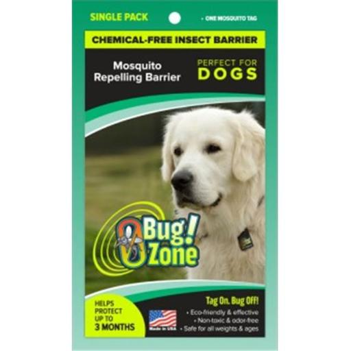0Bug Zone Mosquito Barrier Tag for Dogs