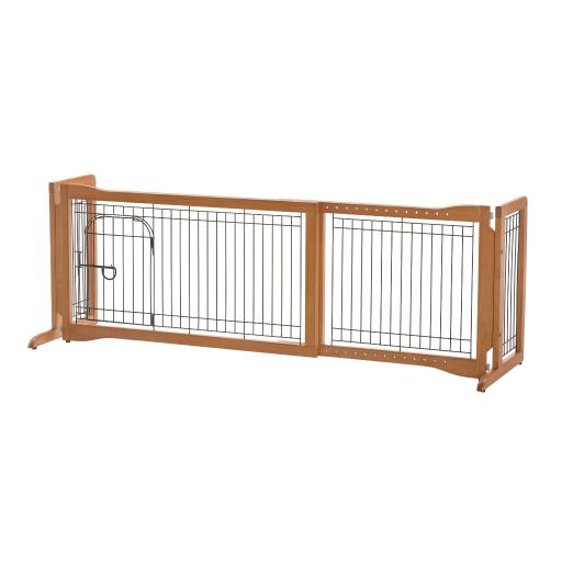 Richell 94961 autumn matte richell pet sitter freestanding pet gate plus autumn matte 38.2-59.8 x 18.5 x 20.9