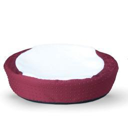 K&H Pet Products 7417 Red K&H Pet Products Ultra Memory Round Pet Cuddle Nest Red 19 X 19 X 3