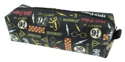 Harry Potter Themed Allover Pattern School Pencil Case Mini Make-Up Bag