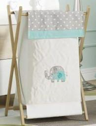 Green Elephant Crib Bedding Accessory - Hamper / Laundry Basket