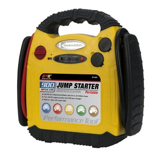 Perform Tool W1665 Portable Jump Starter, Inflator