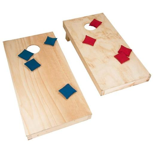 Hey Play M420014 48 x 24 in. Unfinished Regulation Wooden Cornhole Boards & Bags