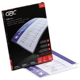 """Ezuse Thermal Laminating Pouches 3 Mil 9"""" X 11.5"""" Gloss Clear 100 Per Box   1 Box of: 100"""