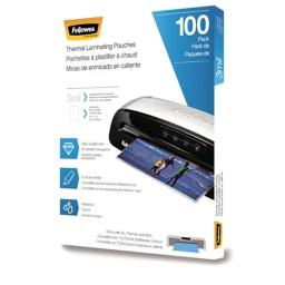 Fellowes 5743301 3 Mil Letter Laminating Pouches - 100 Per Pack