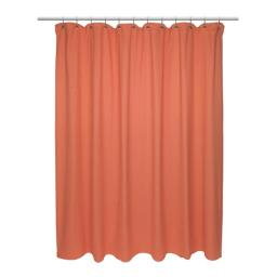 Carnation Home Fashions FCOT2-XL-48 72 x 84 in. Extra Long 100 Percent Cotton Chevron Weave Shower Curtain, Burnt Coral