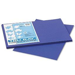 Strathmore / Pacon Papers 103049 Tru Ray Sulphite Construction Royal Blue 50 Pack 12X18 103049