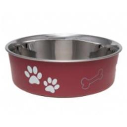Loving Pets 430844 Bella Bowl Merlot Sm