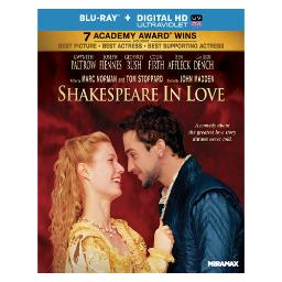 Shakespeare in love (blu ray)(ws/eng/eng sub/sp sub/eng sdh/5.1 dts-hd/uv d BR31807