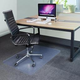 "YesHom 48x36"" Rectangle PVC Floor Mat Protector Studded Back 2.5mm for Low Pile Carpet Home Office Rolling Chair"