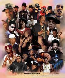 Legends of Hip Hop Poster Print by Wishum Gregory (20 x 24)