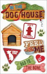 "Paper House 3D Stickers 4.5""x8.5""-Dog STDM0018"