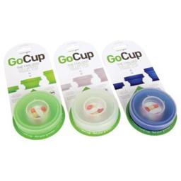 Gocup Collapsing Travel Cup, 8 Oz. - Clear, Large
